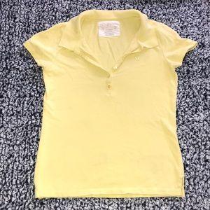 Aeropostale Juniors yellow t-shirt